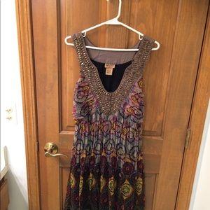 Light weight embellished bohemian dress